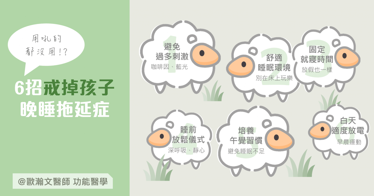 Read more about the article 6招戒掉孩子的晚睡拖延症