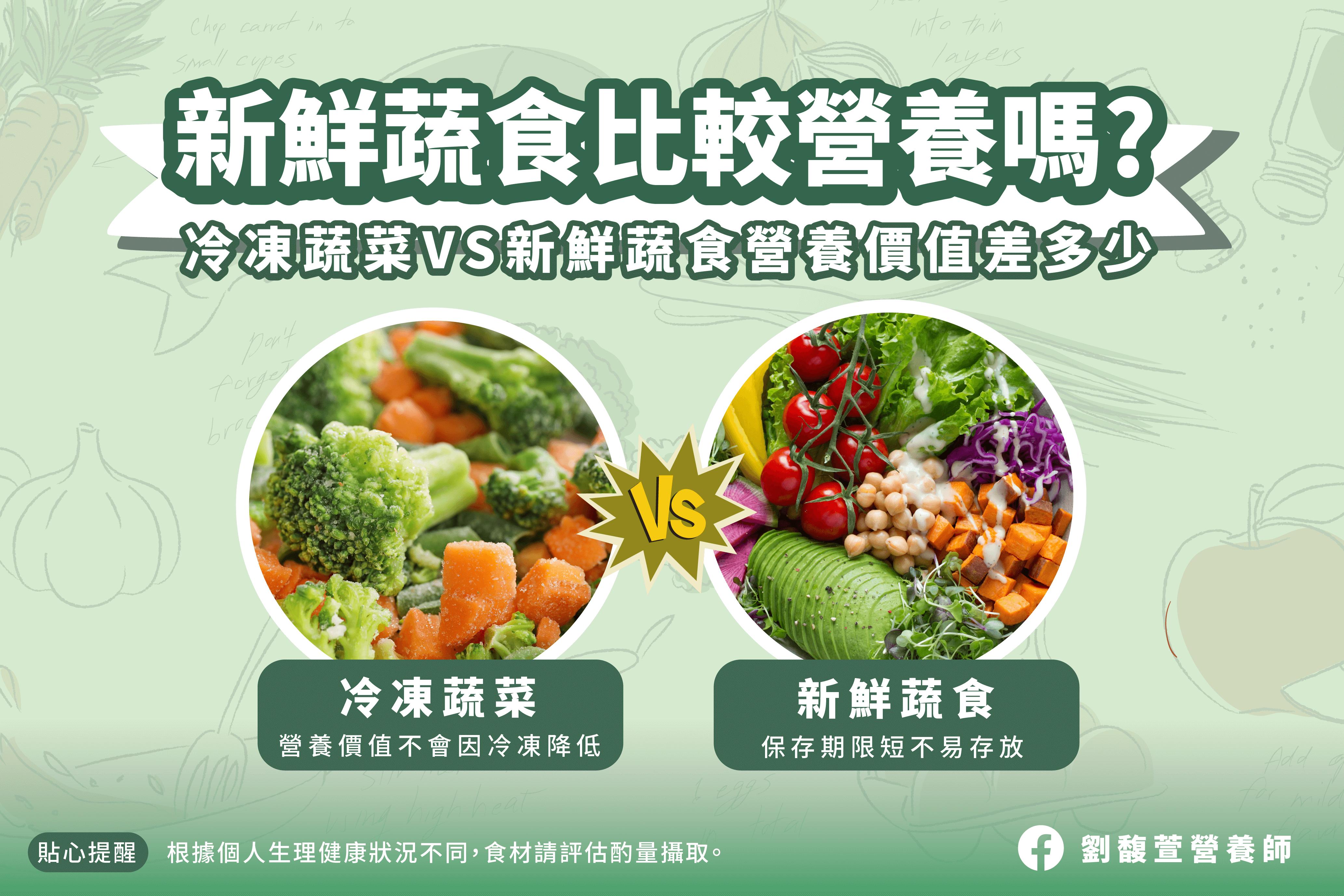 冷凍蔬菜vs新鮮蔬食的營養迷思