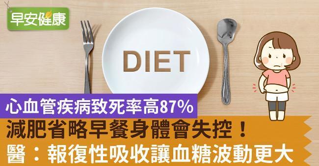 減肥省略早餐身體會失控!報復性吸收讓血糖波動更大