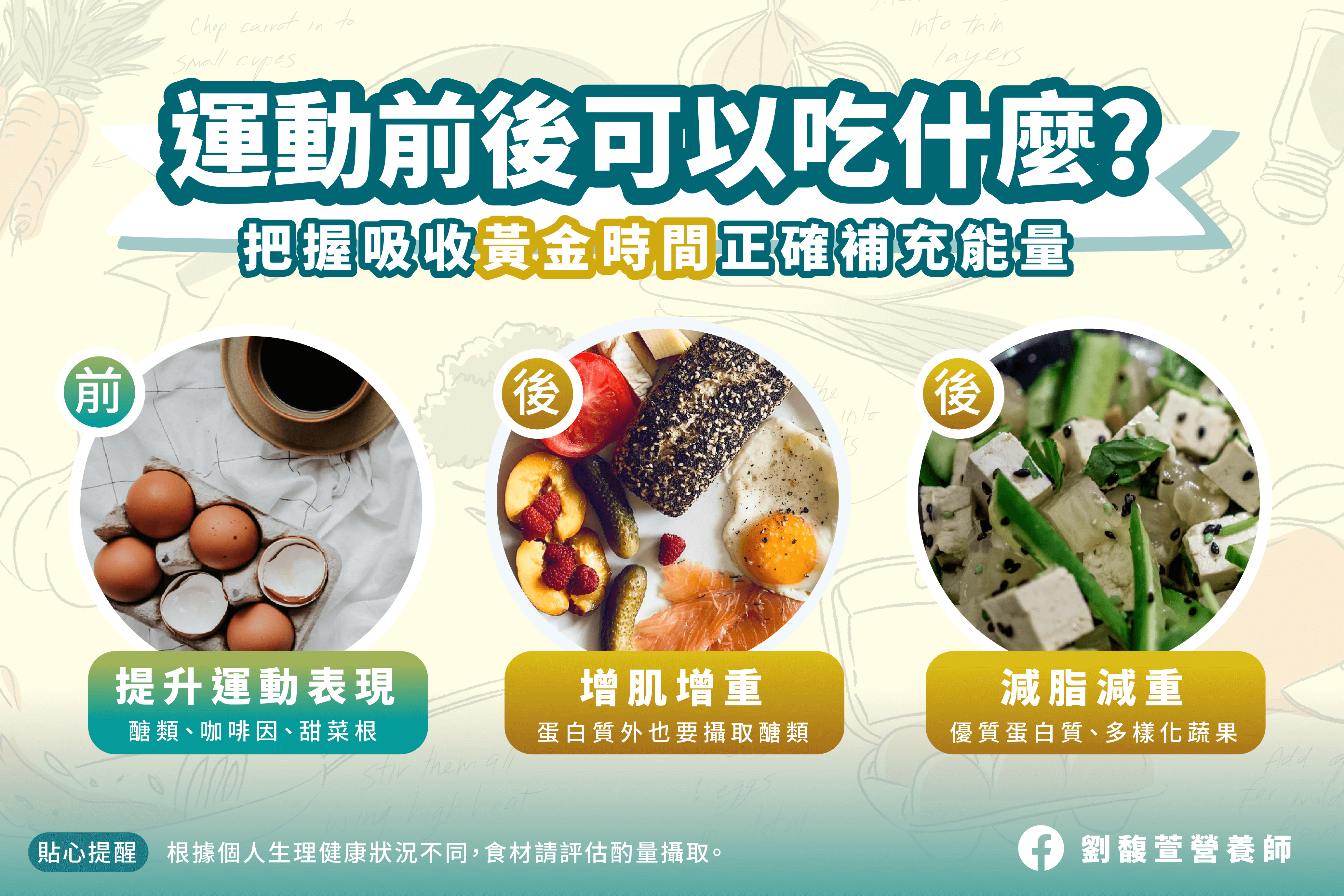 Read more about the article 運動前、運動後,能幫助增肌減脂的優異食物