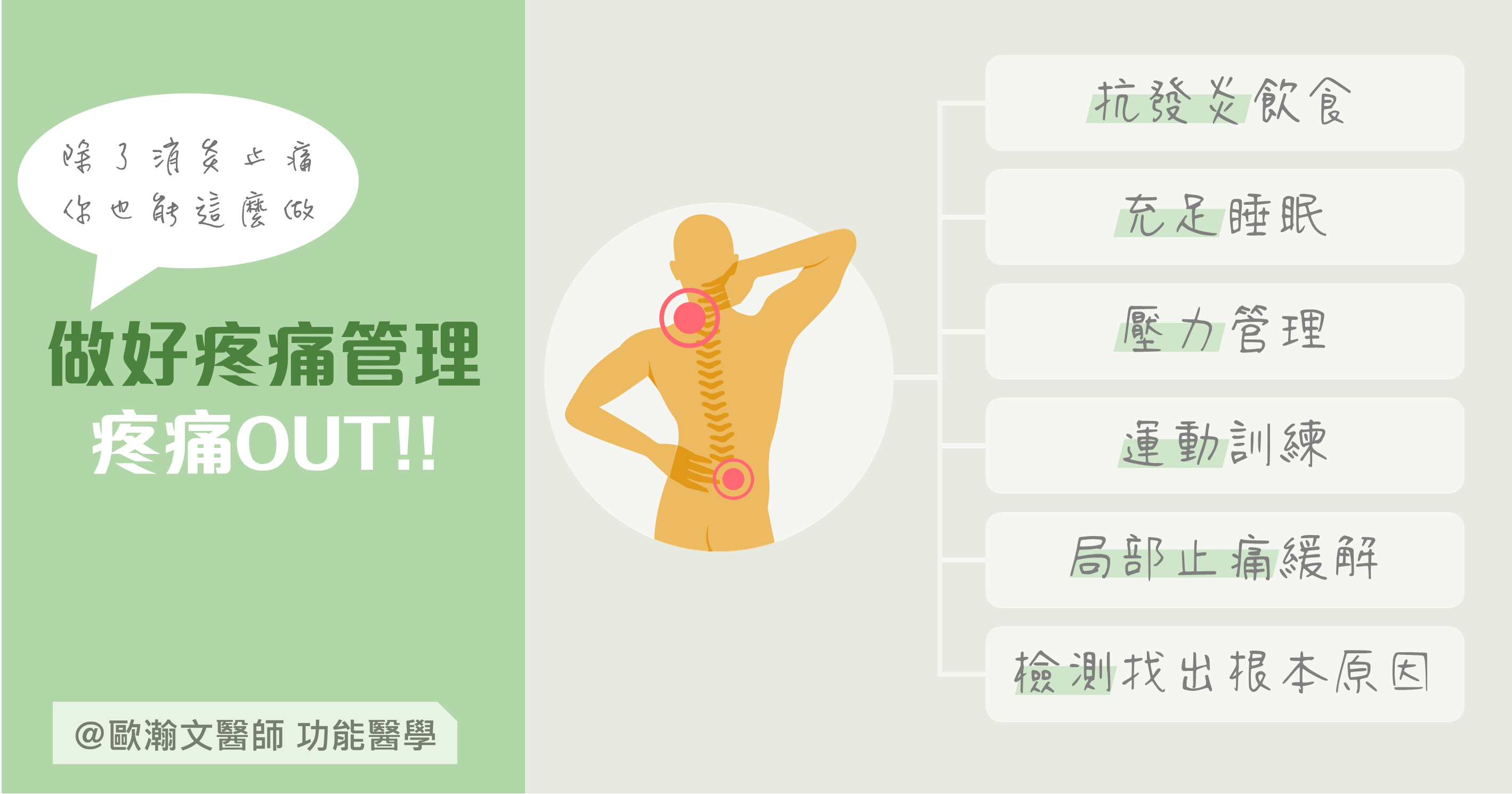 Read more about the article 除了消炎止痛你也能這麼做!疼痛OUT!